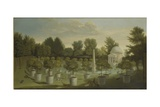 View of the Orange Tree Garden, Chiswick House Giclee Print by Pieter Andreas Rysbrack