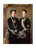 The Twins, Portrait of Kate Edith and Grace Maud Hoare, 1876 Giclee Print by Sir John Everett Millais