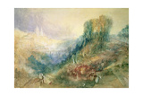 Lausanne from the West Giclee Print by Joseph Mallord William Turner