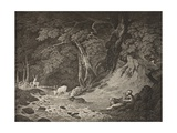 The Forest of Arden, Act II, Scene I, from 'As You Like It', from the Boydell Shakespeare… Giclee Print by William Hodges