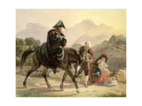 Mounted Italian Policeman with Rural Folk, C.1830 Giclee Print by Carl Wilhelm Goetzloff