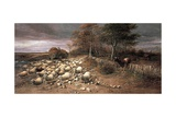 Sheep Stampeding in a Storm, 1890 Giclee Print by Thomas Sidney Cooper