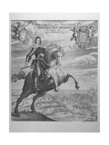 Portrait of Ferdinand III, Holy Roman Emperor, on Horseback During the Battle of Noerdlingen, 6th… Giclee Print by Aegidius Sadeler Or Saedeler