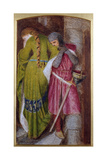 Meeting on the Turret Stair, Helellil and Hildebrand, 1864 Giclee Print by Sir Frederick William Burton