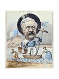 Caricature of Ferdinand De Lesseps, from 'Le Monde Pour Rire', 1868 Giclee Print by A Lemot