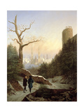Winter Landscape with Gothic Church, 1821 Giclee Print by Carl Wilhelm Goetzloff