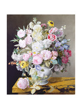 Still Life with a Vase of Flowers on a Marble Surface Giclee Print by Horace Lecoq de Boisbaudran