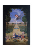 The Groves of Versailles. View of the Parterres of Trianon with Flora and Zephyr Giclee Print by Jean the Younger Cotelle