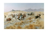 The Attack, 1897 Giclee Print by Charles Marion Russell