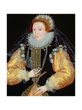 Portrait of Queen Elizabeth I - the Drewe Portrait, Late 1580s Giclee Print by George Gower