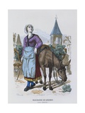 Vegetable Seller in the Sixteenth Century, from 'Costumes De Paris a Travers Les Siecles' Giclee Print by  Gerlier