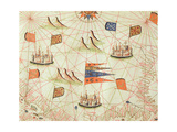 The Coast of Tunisia and the Gulf of Gabes, from a Nautical Atlas of the Mediterranean and Middle… Giclee Print by  Calopodio da Candia