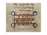 M549-3-66, Fol. 54, from 'The Erna Michael Haggadah', Middle Rhine, Germany, C.1400 Giclee Print