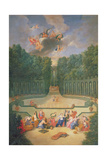 The Groves of Versailles. View of the Amphitheatre and the Water Theatre with Venus Surrounded by… Giclee Print by Jean the Younger Cotelle