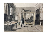 Whistler Painting in His Studio Giclee Print by Walter Greaves