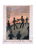 Amusements on Board the Vulcan at Sea, C.1854 Giclee Print by William Thomas Markham