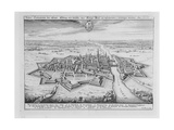 View of Elbing in 1626, Fortified by the Protestant Swedes - from 'Theatrum Europaeum', Volume I,… Giclee Print by Matthaus, The Elder Merian