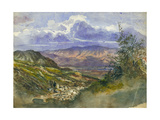 Jordan Valley Looking East to Mount Gilead Giclee Print by Claude Conder