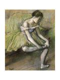 La Jupe Verte, C.1896 Giclée-tryk af Edgar Degas