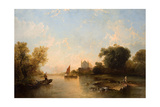 Eton College from the River Giclee Print by Alfred Montague