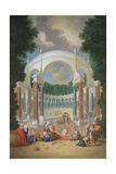 The Groves of Versailles. View of the Colonnade with Apollo and the Nymphs Giclee Print by Jean the Younger Cotelle