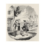 The Knight and the Lady, from 'The Ingoldsby Legends' by Thomas Ingoldsby, Published by Richard… Giclee Print by George Cruikshank
