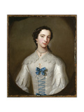 Portrait of a Lady, Thought to Be a Member of the Cholmondeley Family, C.1740 Giclee Print by Allan Ramsay
