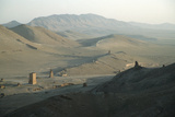 The Valley of the Tombs, or Western Necropolis, Showing the Remains of the Palmyran Tower Tombs Photographic Print