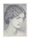 Jane Morris, 1857 Giclee Print by Dante Gabriel Rossetti