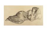 Jane Morris, 1870 Giclee Print by Dante Gabriel Rossetti