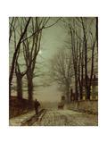 Putney Park Lane Giclee Print by John Atkinson Grimshaw