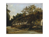Strohgedecktes Landhaus Giclée-Druck von Antoine Vollon