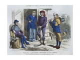 Peasant, Labourer, Musician in the Fifteenth Century, after 'Chroniques' by Froissard, from… Giclee Print by  Gerlier