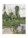 On the River, Sainte-Gertrude, Caudebec, Normandy Giclee Print by John Quinton Pringle