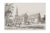 St. Martin's Church, Salisbury, 1834 Giclee Print by J. Fisher