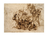Fight Study for the 'Cascina Battle', 1504 Giclee Print by  Michelangelo Buonarroti
