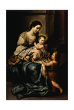 La Serrana Or, Madonna and Child with the Infant St. John Giclee Print by Bartolome Esteban Murillo
