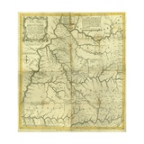 Map of Kentucke..., Engraved by Henry D. Pursell, Printed by T. Rook, Philadelphia, 1784 Giclee Print by John Filson