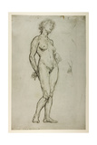 Study of a Female Figure, 1898 Gicléetryck av Sir William Orpen