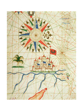 Egypt, the River Nile and Cairo, from a Nautical Atlas, 1646 (Detail) Giclee Print