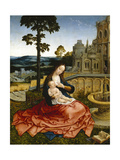 The Virgin and Child by a Fountain Giclee Print by Bernard van Orley