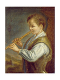 The Flautist Giclee Print by Alexis Grimoux