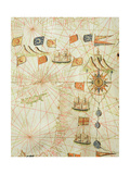 The Coast of Turkey and Cyprus, from a Nautical Atlas of the Mediterranean and Middle East Giclee Print by  Calopodio da Candia