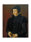 Portrait of Christina of Denmark, 1545 Giclee Print by Michiel I Coxie or Coxcie