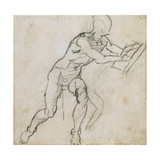 Study of a Seated Male Nude, C.1511 Giclee Print by  Michelangelo Buonarroti
