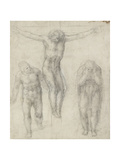 Study of a Crucified Christ and Two Figures, C.1560 Giclee Print by  Michelangelo Buonarroti