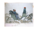 Un Contraste: General La Marmora and Omar Pasha, a Drive in the Crimea, from an Album of… Giclee Print by George Cadogan