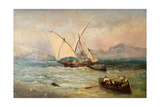 On the Tees Giclee Print by Thomas Creswick