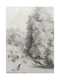 New College Garden, 1821 Giclee Print by William Alfred Delamotte