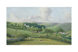 Osmington, a View to the Village, C.1816 Giclee Print by John Fisher